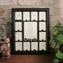 School Years Days Picture Frame with Name Graduation Collage Black Frame... - $64.95