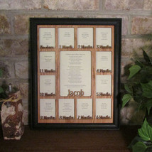 """Baby First Year""Frame with Name Collage Black Picture Frame and Oak Mat... - $64.95"