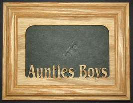 """Aunties Boys"" Picture Frame 5x7 - $31.95"