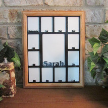 School Years K-12 with Name Photo Collage Insert and  Oak Picture Frame - $64.95