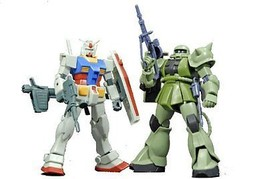 NEW BANDAI HGUC 1/144 GUNPLA STARTER Set RX-78-2 GUNDAM + MS-06 ZAKUII M... - $46.40