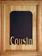 """""""Cousin"""" Picture Frame and insert 5x7 - $31.95"""