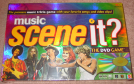 SCENE IT DVD GAME MUSIC 2005 MATTEL SCREENLIFE FACTORY SEALED BOX - $25.00