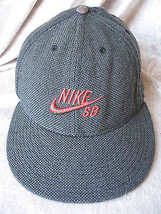 Rare Gray Nike Sb Embroidery Fitted Stretch One Size Baseball Hat - $18.59