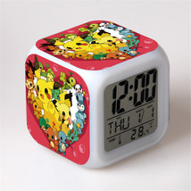 New Pokemon Led Alarm Clock Desk Clock Glowing LED Digital Alarm Clock B... - $19.99