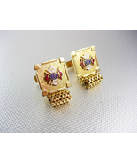 Vintage IOF Mesh Cufflinks Independent Order Foresters British Friendly ... - $95.00