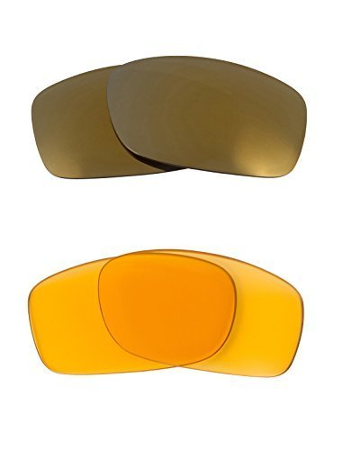 New SEEK Replacement Lenses Oakley FIVES SQUARED - HI Yellow Gold