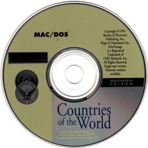 Countries of the World (PC/MAC 1991) CD-ROM for DOS/MAC - NEW CD in SLEEVE - $5.98