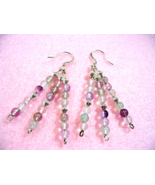 Natural Fluorite Earrings, Stone Bead Earrings, Rainbow Fluorite Jewelry - $19.00