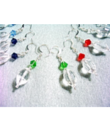 Faceted Crystal Earrings, Purple, Green, Blue, Red and Clear Crystal Jew... - $25.00