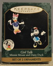Hallmark - Girl Talk - Minnie Mouse and Daisy Duck - Set of 2 - 1999 Min... - $11.07