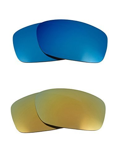 Primary image for New SEEK OPTICS Replacement Lenses Oakley FIVES 3.0 - Green Blue