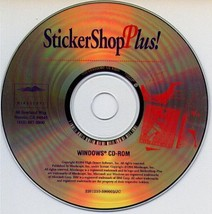 StickerShop Plus! CD-ROM for Windows - NEW CD in SLEEVE - $9.98