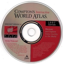 Compton's Interactive World Atlas 1997 CD-ROM for Windows - New CD in SL... - $7.98