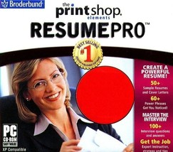 The PrintShop Elements: Resume PRO CD-ROM for Windows - NEW CD in SLEEVE - $12.98