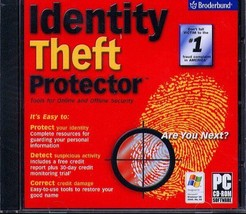 Identity Theft Protector CD-ROM for Windows - NEW CD in SLEEVE - $9.98