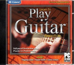 Learn To Play Guitar Essentials PC-CD, 2011 for Windows - NEW in Jewel Case - $9.98