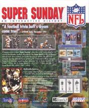 NFL SUPER SUNDAY Vol.2 CD-ROM for Macintosh- NEW CD in SLEEVE - $7.98