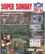 NFL SUPER SUNDAY Vol.2 CD-ROM for Macintosh- NEW CD in SLEEVE - $7.98