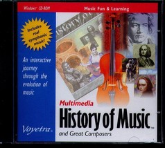 History of Music and Great Composers PC-CD Windows - NEW in JC - $7.98