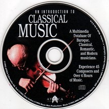 An Introduction to Classical Music CD-ROM Windows - NEW CD in SLEEVE - $9.98