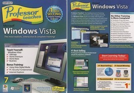 Professor Teaches Windows Vista (3CDs) for Windows 2000/XP/VISTA - NEW i... - $11.98