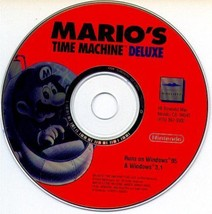 Mario's Time Machine Deluxe (PC-CD, 1994) for Windows - NEW CD in SLEEVE - $19.98
