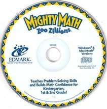 Mighty Math Zoo Zillions (Ages 5-8) CD-ROM for ... - $9.98