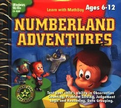 Numberland Adventures (Ages 6-12) (PC-CD, 2001) Windows - NEW CD in SLEEVE - $7.98