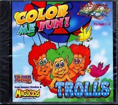 Color Me Fun! TROLLS (Ages 2-8) (PC-CD, 1997) Windows - NEW CD in SLEEVE - $9.98