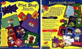 Rugrats Print Shop (Ages 6-12) (PC-CD, 1998) for Windows - NEW CD in SLEEVE - $7.98