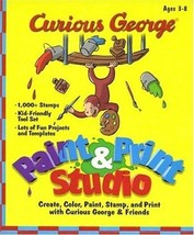 Curious George: Paint-n-Print Studio (Age 3-8) PC-CD Windows - NEW CD in... - $5.98
