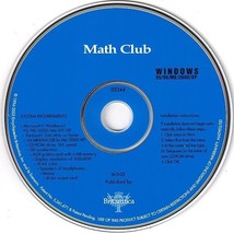 Britannica Math Club (PC-CD, 2003) for Windows - NEW CD in SLEEVE - $9.98