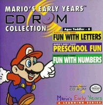 Mario's Early Years CD-ROM Collection (PC-CD, 1993) - NEW CD in SLEEVE - $17.98