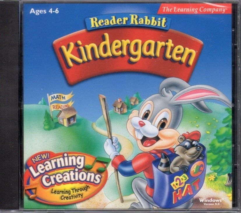 Primary image for Reader Rabbit Kindergarten v4.0 Learning Creations (Ages 3-5) PC-CD - NEW in JC