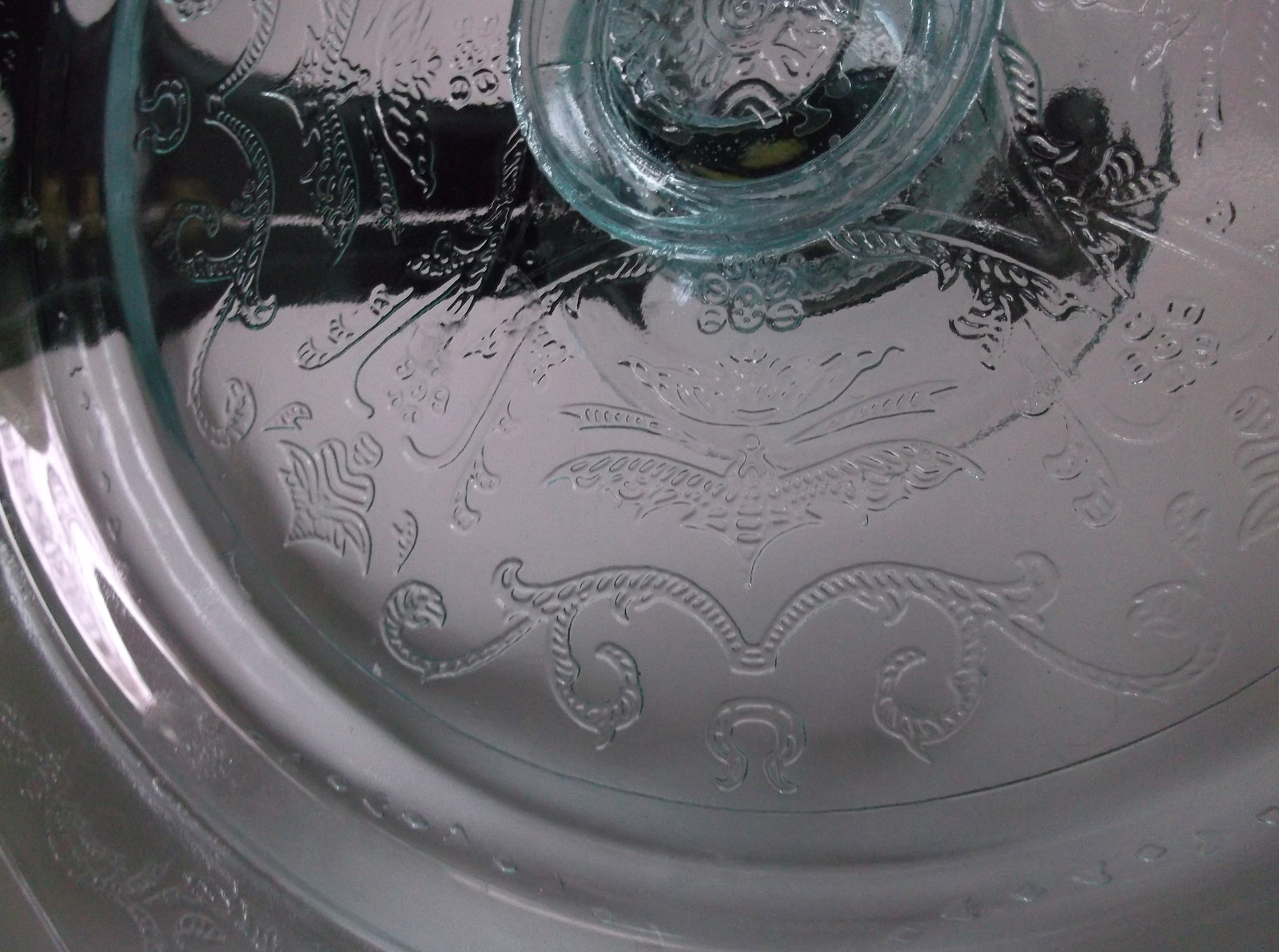 Indiana Glass Teal Green Cake Plate