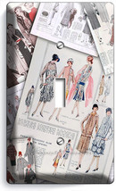 Retro Fashion Magazine Pages Single Light Switch Wall Plate Cover New Room Decor - $8.99