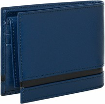 Calvin Klein Ck Men's Leather Bifold Id Wallet Key Chain Set Blue 79485 image 2