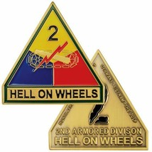 ARMY 2ND SECOND ARMORED DIVISION HELL ON WHEELS MILITARY  CHALLENGE COIN - $17.14