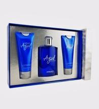Animale Azul 3PCs Men Set, 3.4 fl.oz edt spray + After Shave Blam + Body Wash - $67.98