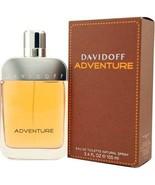 ADVENTURE BY DAVIDOFF for MEN 3.4 FL.OZ / 100 ML Eau De TOILETTE SPRAY - $40.19