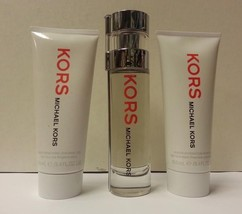 Kors by Michael Kors 3PCs Women Set, 1.7 oz + 3.4 Body Gel + Shower Gel, Rare - $134.98