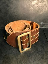 Vintage Military Greek Army Officer's Leather Belt From The 19TH Century ! - $65.70