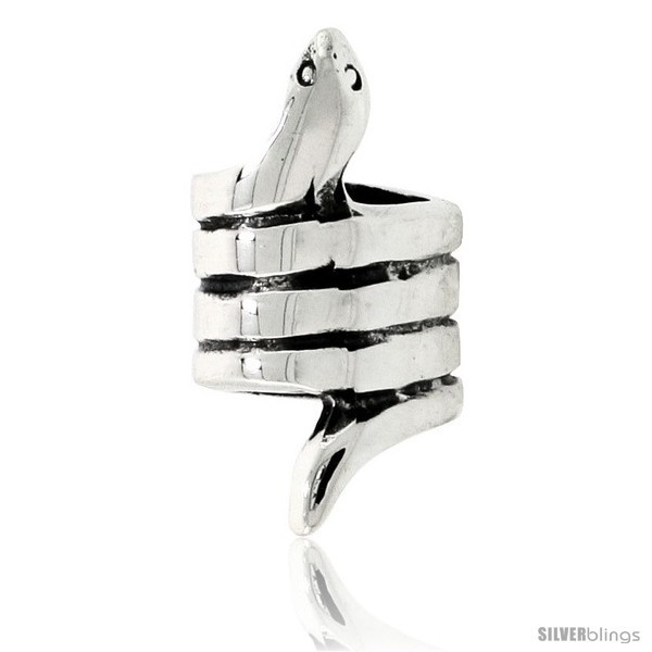 Sterling Silver Snake Bead Charm for most Charm