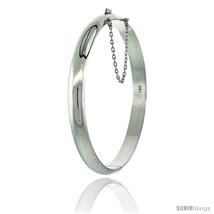 Sterling Silver Bangle Bracelet High Polished 1/4 in  - $68.37