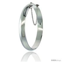 Sterling Silver Bangle Bracelet High Polished 3/8 in  - $90.27