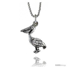 Sterling Silver Pelican Pendant, 11/16 in. (17 mm)  - $22.60