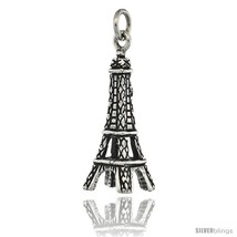 Sterling Silver 3-Dimentional Eiffel Tower Charm, 1 1/8 in  - $25.44