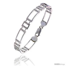Length 7 - Sterling Silver Italian Binario ( BAR ) Bracelet 7in  and 8in... - €53,35 EUR