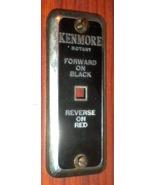 Kenmore 117.141 Stitch Length Dial Cover w/Screws Black & Chrome - $10.00